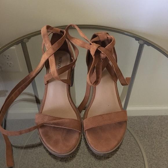 Merona Shoes - Merona faux suede heels